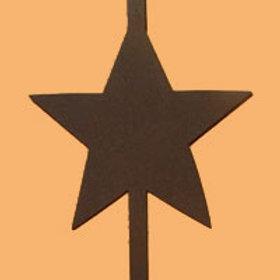 Rust Star Wreath Hanger