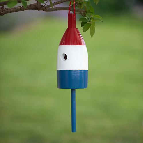 Red/White/Blue Buoy Birdhouse