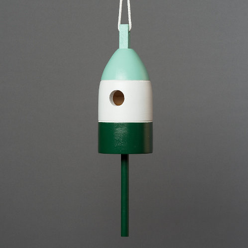 Mint/White/Forest Buoy Birdhouse