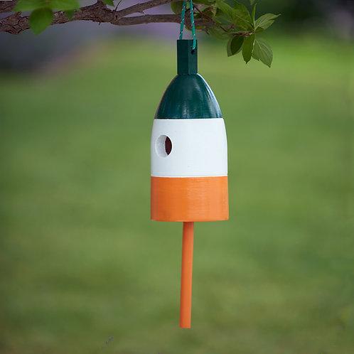 Green/White/Orange Buoy Birdhouse