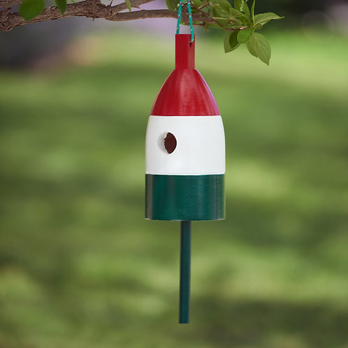 Red/White/Green Buoy Birdhouse