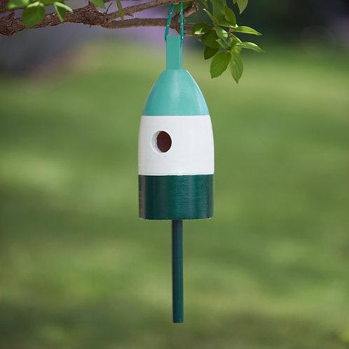 Mint/White/Green Buoy Birdhouse