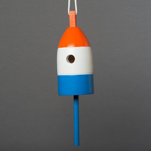 Orange/White/Blue Buoy Birdhouse
