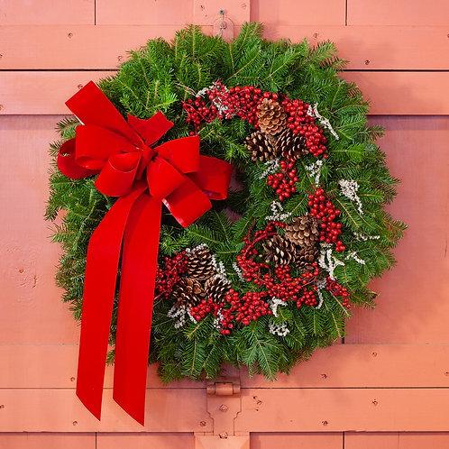 Maine Balsam Canella Berry Wreath