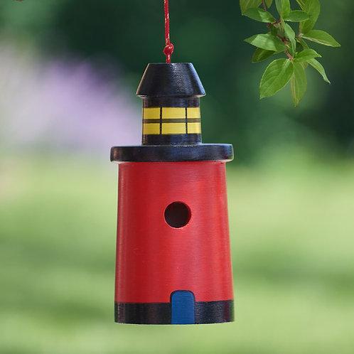Red Lighthouse Birdhouse