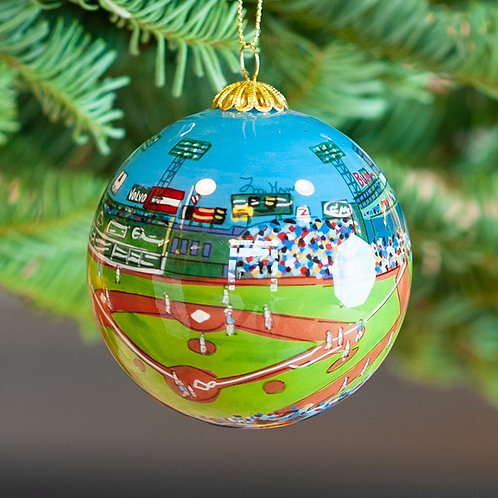 Fenway Park Day Glass Ornament