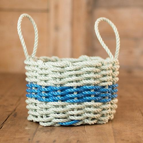 Seafoam/Blue Nautical Rope Basket