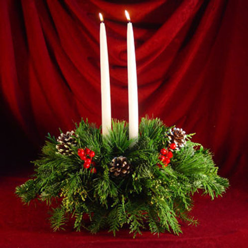 Traditional Red Winterberry Centerpiece