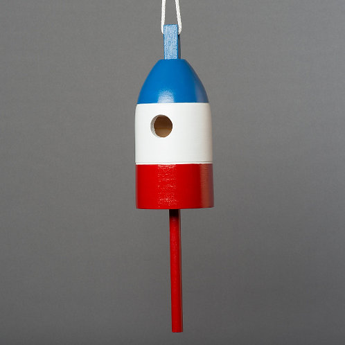 Blue/White/Red Buoy Birdhouse