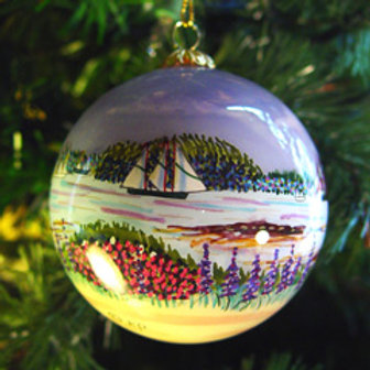 Boothbay Harbor Glass Ornament