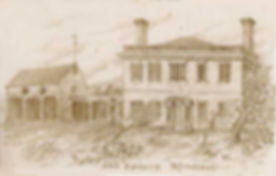 A drawing of Wallingford Hall by William E. Barry