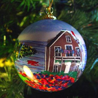 Monhegan Island Glass Ornament