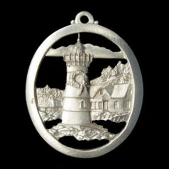 Yuletide Lighthouse Ornament