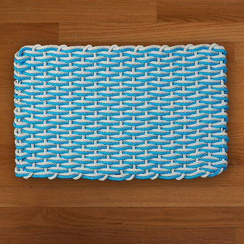 Blue/Gray Double Weave Mat