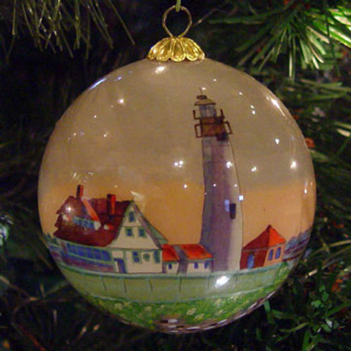 Portland Head Light Glass Ornament