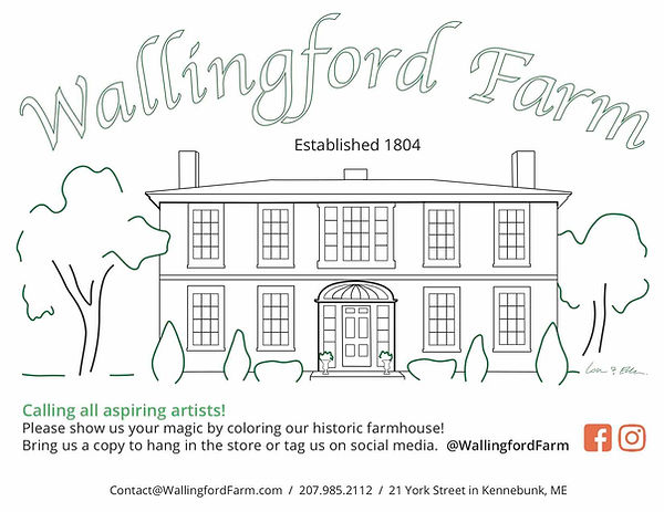 Wallingford farmhouse coloring page