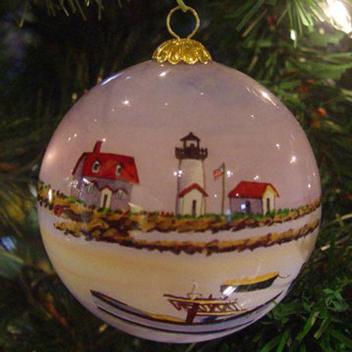 Goat Island Light Glass Ornament