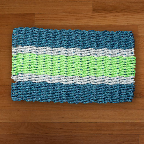 Navy/Seafoam/Green Mat