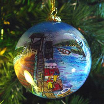 Ogunquit Glass Ornament