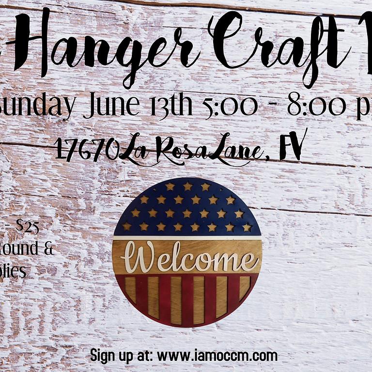 Door Hanger Craft Night