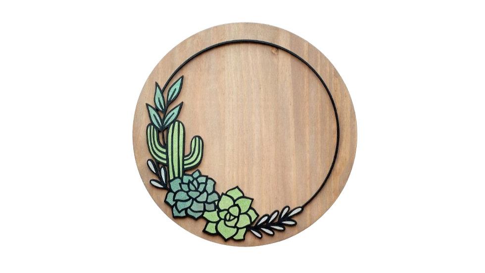 """DIY 11"""" Round Succulent Door Hanger - All Supplies Included!"""
