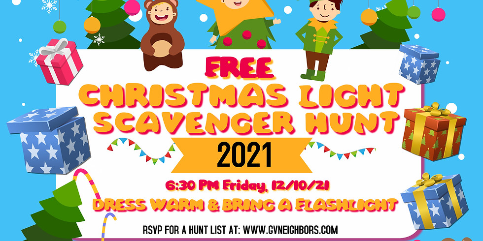 5th Annual Holiday Lights Scavenger Hunt