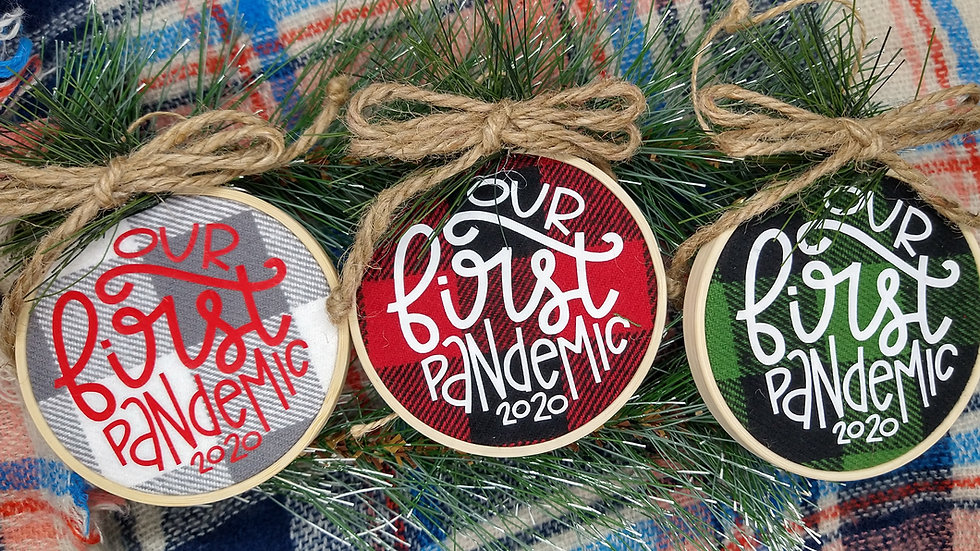 Our First Pandemic Ornaments