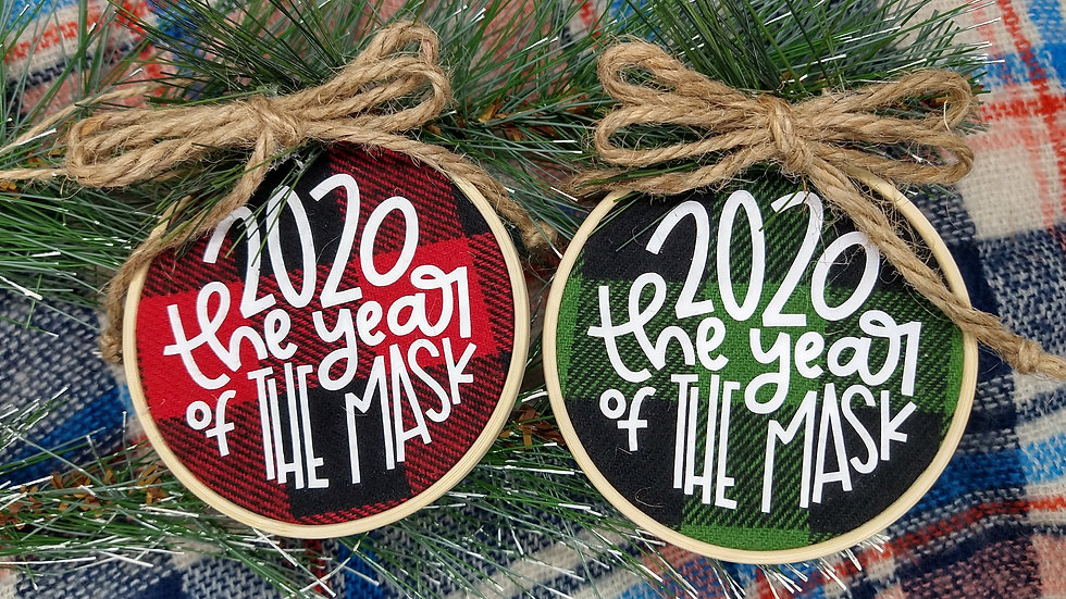 2020 - The Year of the Mask Ornament