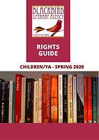 Blackbird Lit. Agency Children & YA Spring 2020