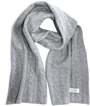 The Cable Scarf - Misty Grey