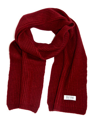 burgundy ribbed scarf