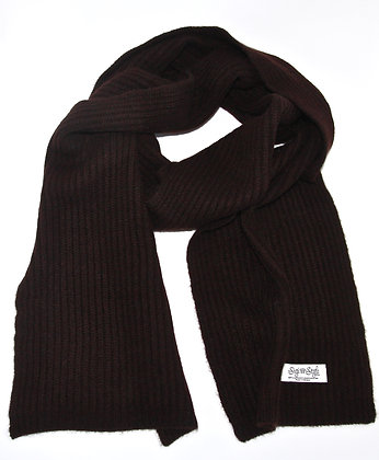 mocca ribbed scarf