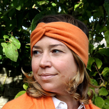 Twist Knot Headband - Orange