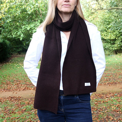 The Ribbed Scarf - Chocolate