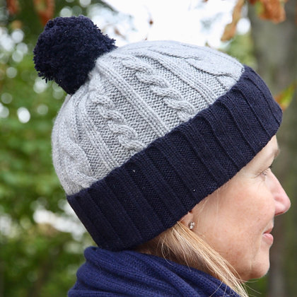 The Pompon Cable Hat
