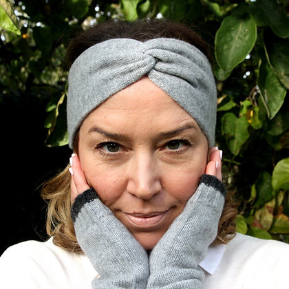 Twist Knot Headband - Misty Grey