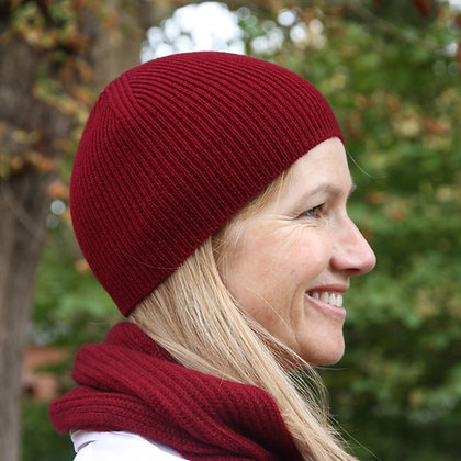 The Burgundy Fisherman's Hat