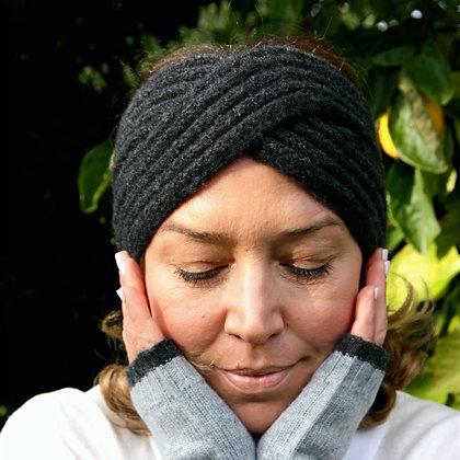 Ribbed Headband - Charcoal
