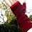 Thumbnail: XLong Fingerless Mittens - Burgundy