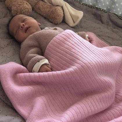Multi Pattern Baby Blanket - Rose