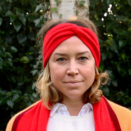 Twist Knot Headband - Red
