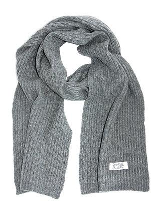 slate ribbed scarf