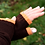 Thumbnail: XLong Fingerless Mittens - Chocolate