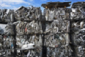 10406136-bales-of-compressed-scrap-metal
