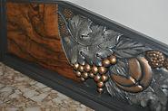 bahut art déco, détail peinture métal