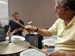 Bill Humphrey plays drums