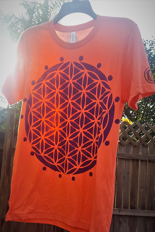 Sacral Chakra Flower of Life ONE OF A KIND T-Shirt