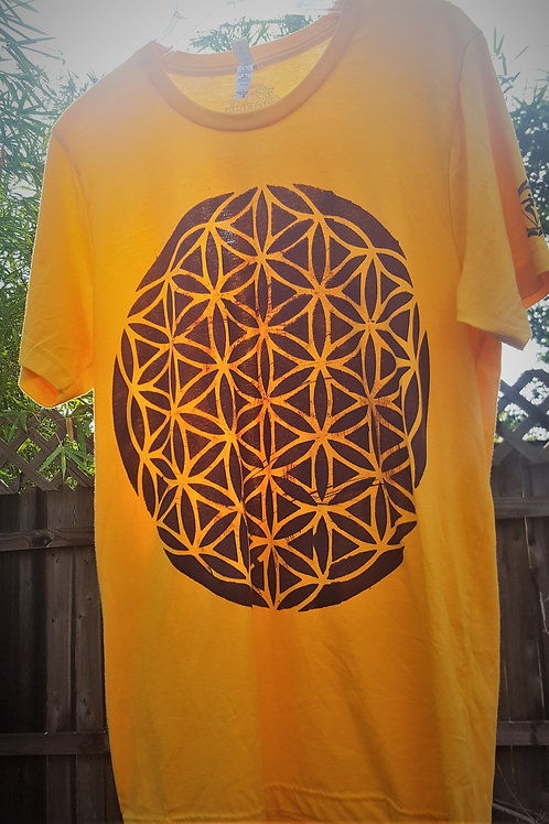 Solar Plexus Flower Of Life ONE OF A KIND T-Shirt