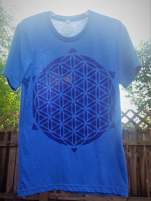 Throat Chakra Flower of Life ONE OF A KIND T Shirt