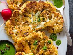 Parmesanrostad blomkål med gremolata